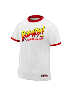 """Official WWE Authentic Ronda Rousey """"Rowdy Ronda Rousey""""  T-Shirt White Small"""