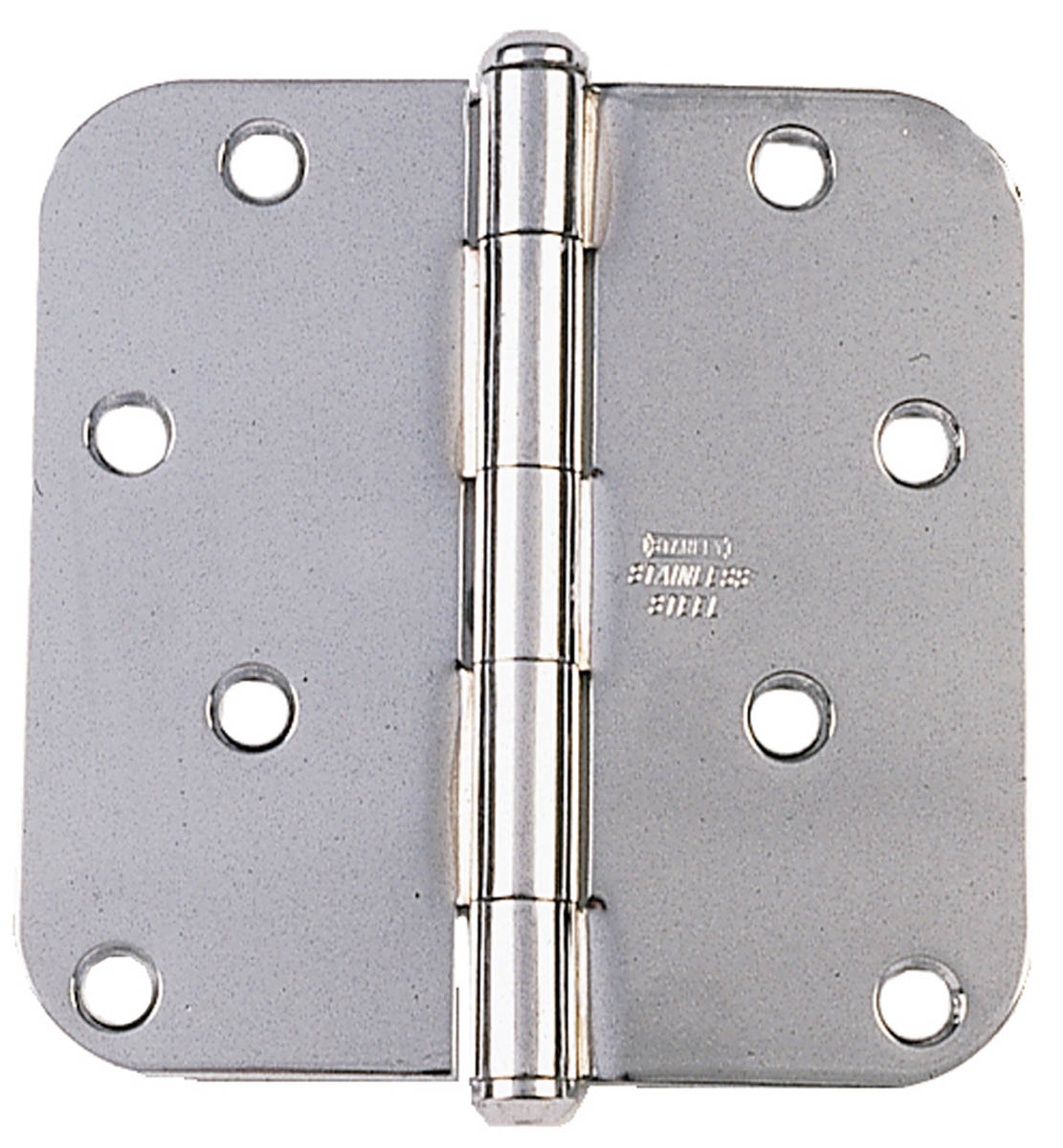 "Stanley Hardware 690410 3-1/2"" Bright Stainless Steel Round Corner Residential Hinge"