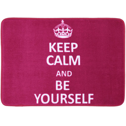 "Mohawk Home Memory Foam ""Keep Calm"" Bath Mat"
