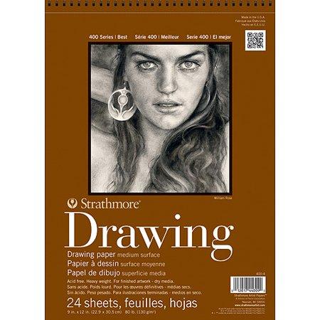Strathmore Drawing Paper Pad, 400 Series, Medium Surface, 9