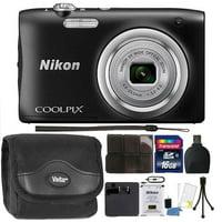 Nikon COOLPIX A100 20.1MP f/3.7-6.4 Max Aperture Compact Point and Shoot Digital Camera Accessory Bundle Black