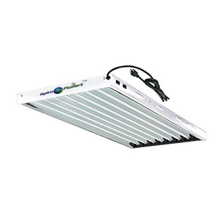 - Hydroplane T5 4ft 8lamp Fluorescent Ho Bulbs Included for Indoor Horticulture Gardening T5 Grow Lights Fixtures (8 Lam