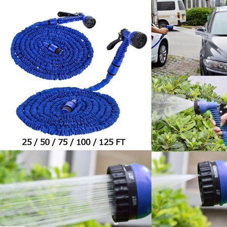 Expandable Flexible Garden Water Magic Hose 50FT Water Pipe Spray Nozzle Home