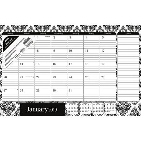 2019 Elegance Desk Pad (Desktop Calendar Pad)
