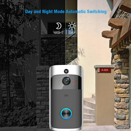 Wireless Battery Video Doorbell Home Security WiFi Smartphone Control Door Bell Camera - image 10 of 12