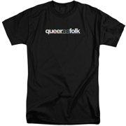 Queer As Folk Logo Mens Big and Tall Shirt