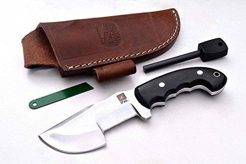 CFK Cutlery Company IPAK USA Custom Handmade D2 Tool Steel Black Micarta SCORPION MINI-ULU Small ULU Skinning Knife with... by CFK Cutlery Company