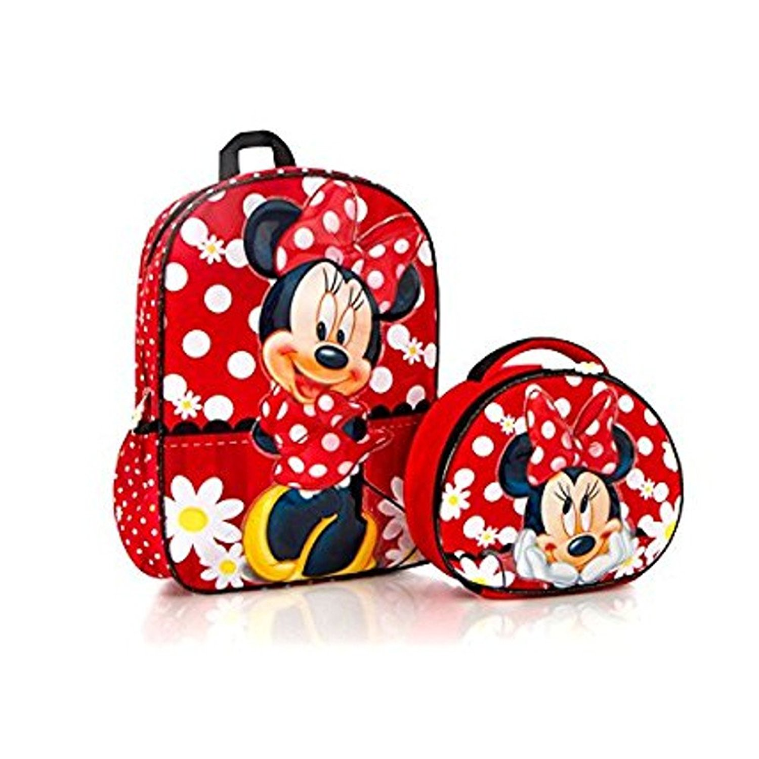 Heys Disney Minnie Mouse Kids Backpack with Lunch Bag - 15 Inch [ Red ]