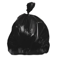 Heritage 40-45 Gallon Low-Density Can Liners, Black, 250 count