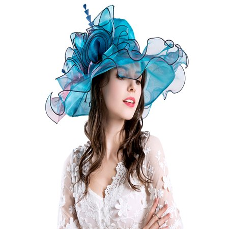 Women's Organza Church Kentucky Derby Fascinator Bridal Tea Party Wedding Hat (Top Hat Fascinators)