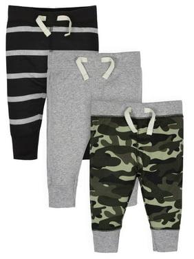 Gerber Baby Boy Organic Active Pants, 3-Pack