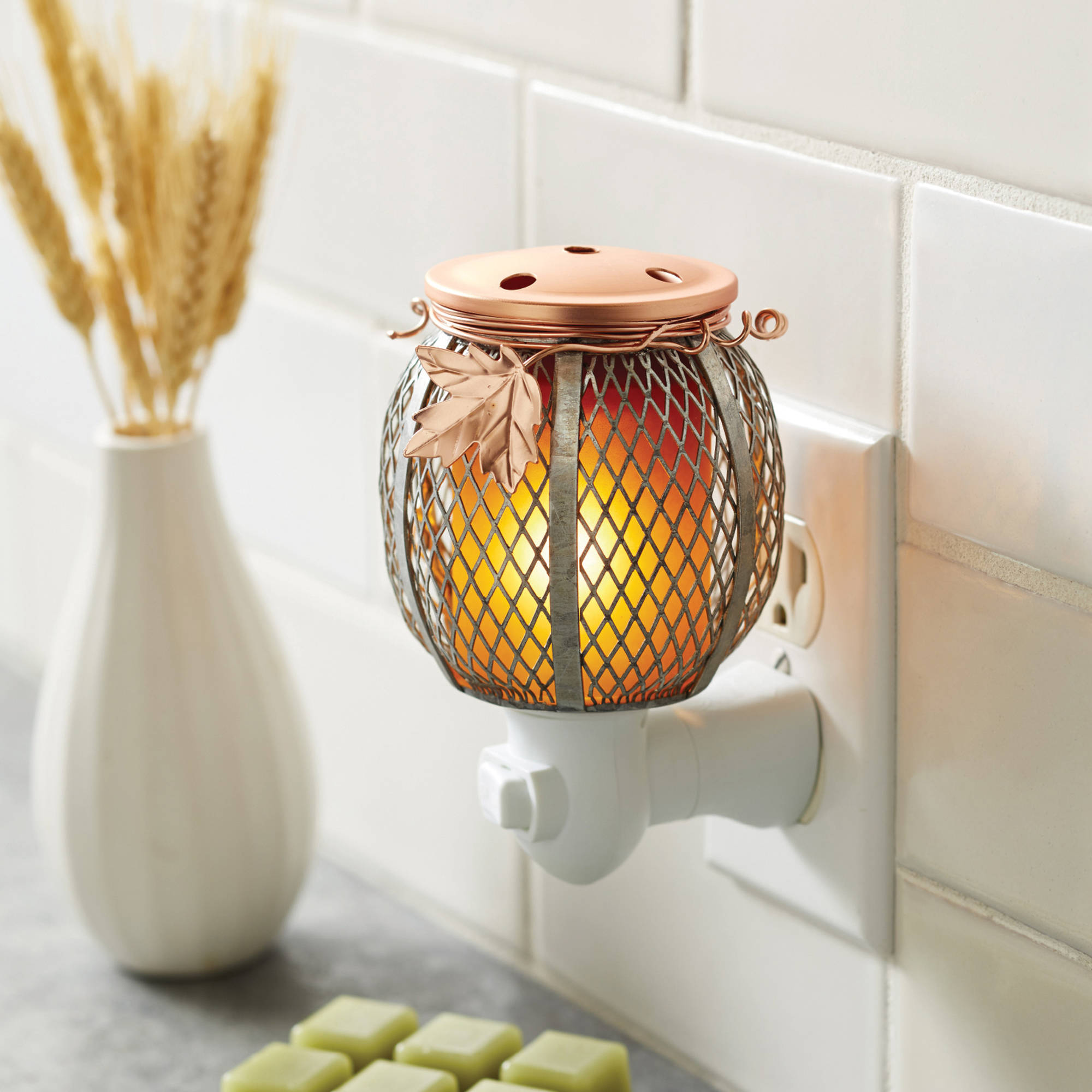 Better Homes and Gardens Accent Wax Warmer, Rustic Pumpkin