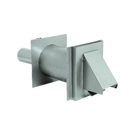 Ss Wall Thimble With Termination Damper For 4 Inch Vent