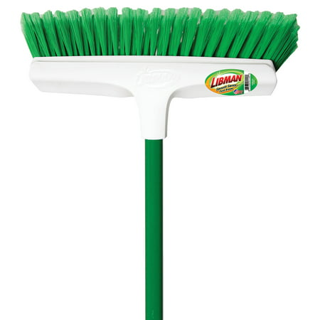"Libman 1140 13"" Green & White Smooth Sweep Push Broom"