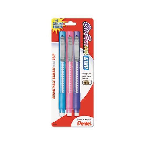 Pentel Clic Retractable Erasers PENZE21TBP3M