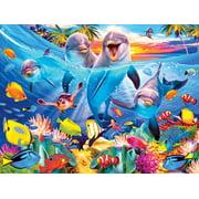 Kodak 350 Piece Jigsaw Puzzle - Playful Dolphins