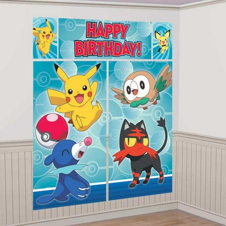Pokemon 'Sun and Moon' Wall Poster Decorating Kit - Pokemon Wall Decor