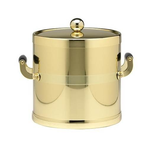 Americano 3-qt. Ice Bucket in Shiny Brass