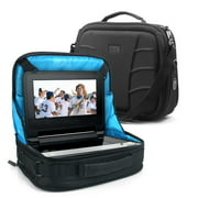 Portable DVD Player Headrest Car Mount Case by USA GEAR - Storage Bag Fits DBPOWER 9.5 Inch, Sylvania SDVD10408, Ematic EPD909, Azend BDP-M1061, Sony BDPSX910, & more 7-10? Blu-ray / DVD Players