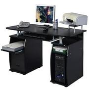 Ktaxon Black Home Office Computer PC Desk Table Work Station,Office Home Raised Monitor & Printer Shelf Furniture