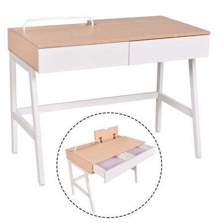 Costway Computer Desk Laptop PC Table Study Workstation Home Office Furniture w/ Drawers