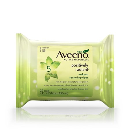 Aveeno Positively Radiant Daily Exfoliating Cleansing Pads, 25 Count
