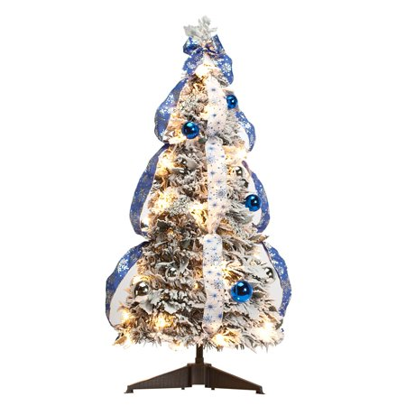 3' Snow Frosted Winter Style Pull-Up Tree by Holiday