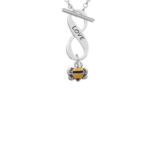 Mini Bumble Bee Love Infinity Toggle Chain Necklace