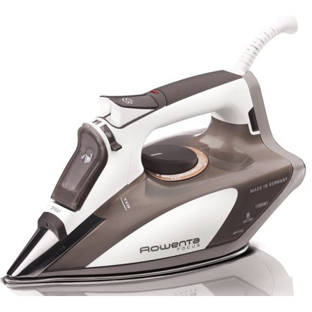 - Rowenta DW5080 Focus 1700-Watt Micro Steam Iron Stainless Steel Soleplate with Auto-Off, 400-Hole, Brown