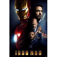Iron Man Movie Poster Cast Collage New 24x36
