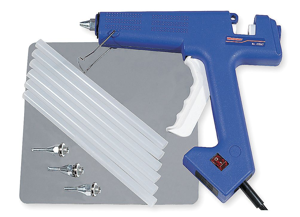 Westward Glue Gun Kit, 12 PC 4YR47 by WESTWARD