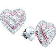 Gold and Diamonds EF8014-W 0.25CT-DIA HEART EARRING- Size 7