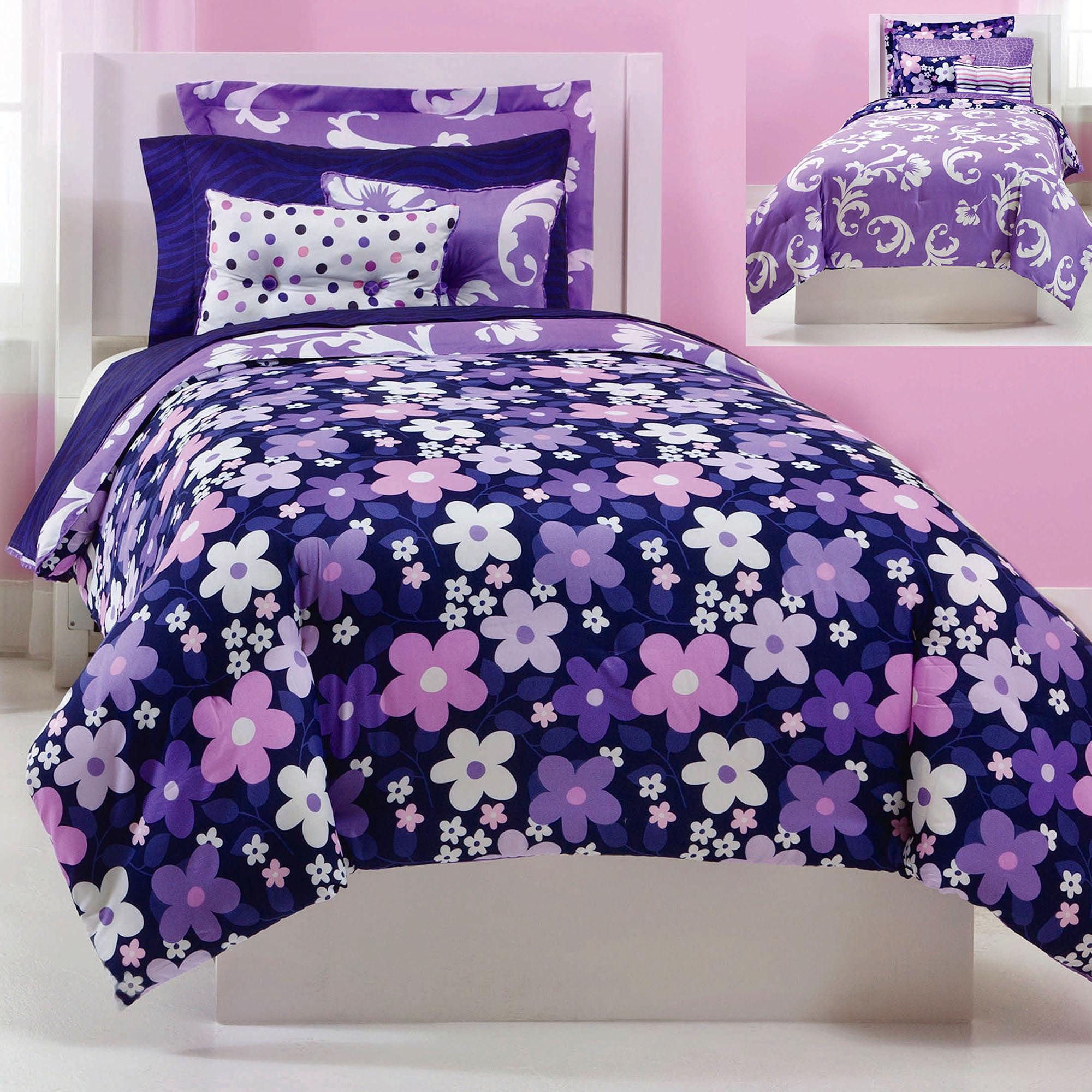 Exceptional Jackie Twist Grape Gatsby Bedding Comforter Set, Purple   Walmart.com