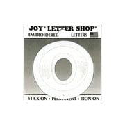 """Joy Applique Letter Iron On Cooper 1.5"""" White 0"""