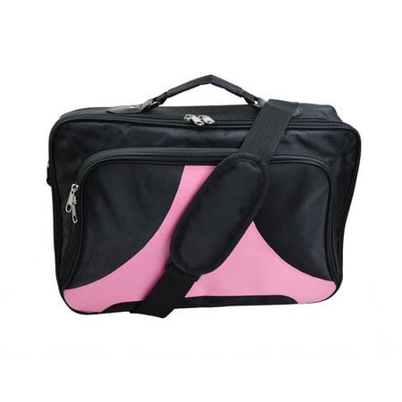 """Black Pink Laptop Bag Notebook Case Shoulder Messenger Bag for 15.6"""" 17"""" 18"""" 18.4"""" Briefcase Case"""