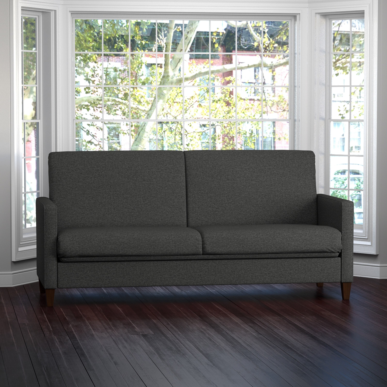 Portfolio Handy Living Samuel Charcoal Linen Convert-a-Couch Futon Sleeper Sofa