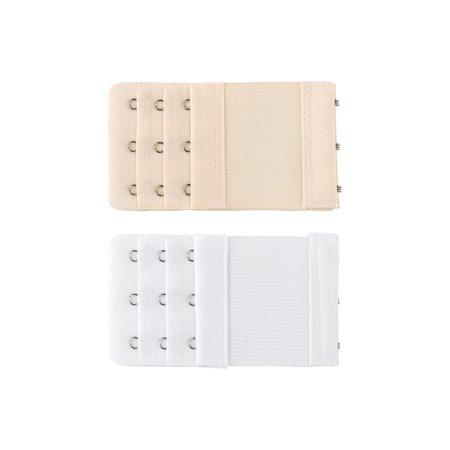 3e734624f6d50 Bra Extenders Elastic Bra Hook Extension 3 Rows(2 3 4 hook) for Women Skin  Color 1+White 3 hooks