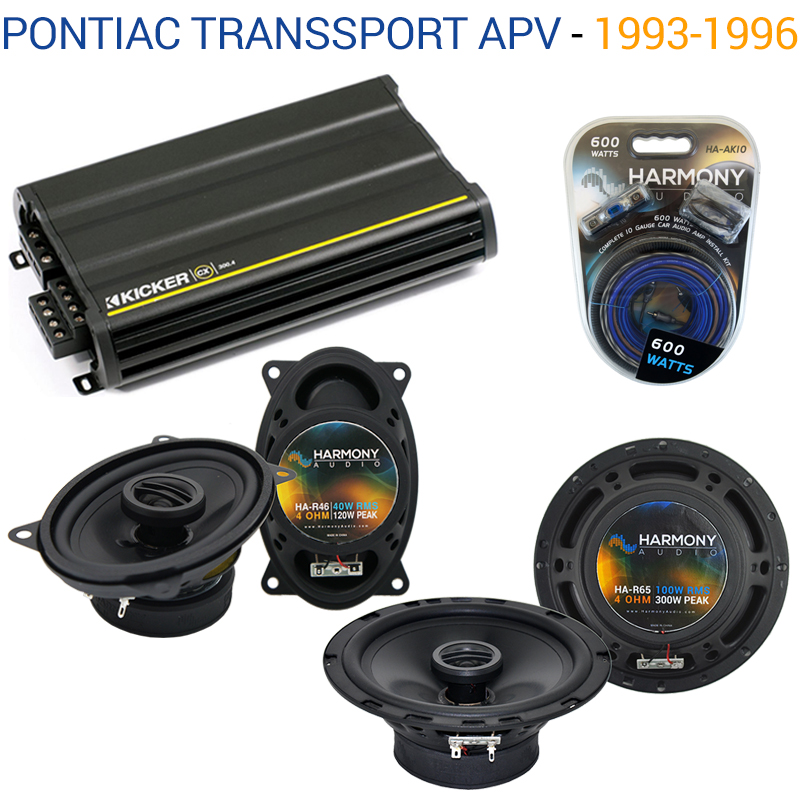 Pontiac TransSport APV 1993-1996 OEM Speaker Upgrade Harmony & CX300.4 Amp - Factory Certified Refurbished