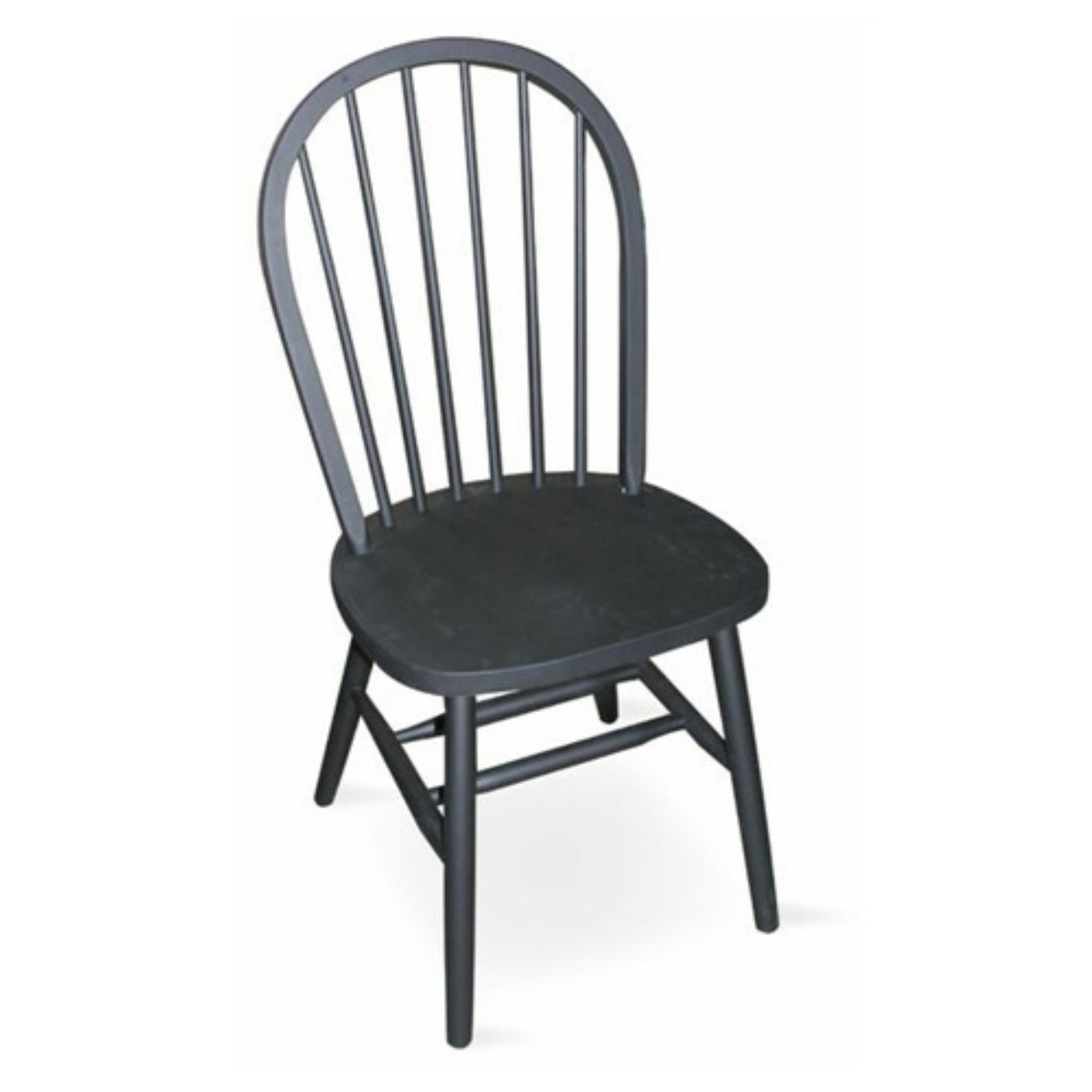 International Concepts Estill Windsor High Spindle Back Dining Chair with Plain Legs