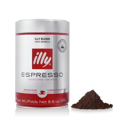illy Ground Espresso Medium Roast Coffee, 8.8 -