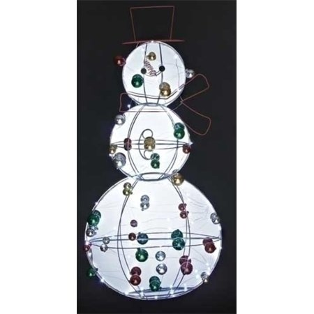 Jolly winter snowman with ornaments led lighted for 36 countdown to christmas snowman yard decoration