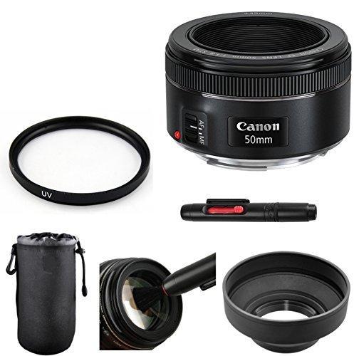 Canon EF 50mm f/1.8 STM Lens Bundle for Canon DSLR Cameras