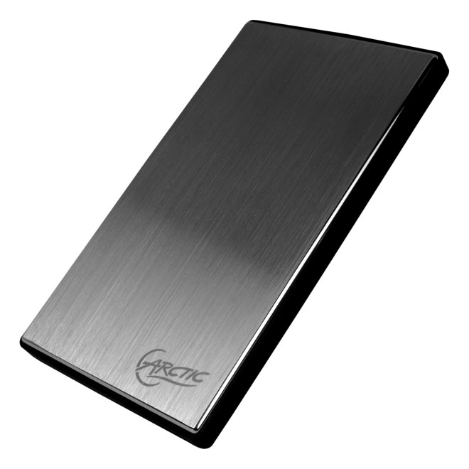 "Arctic Cooling Black / Silver 2.5"" Hard Drive Enclosure (PCACO-E250101-GB) - NEW"