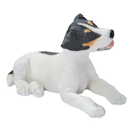(Design Toscano Black & White Jack Russell Puppy Dog Statue)
