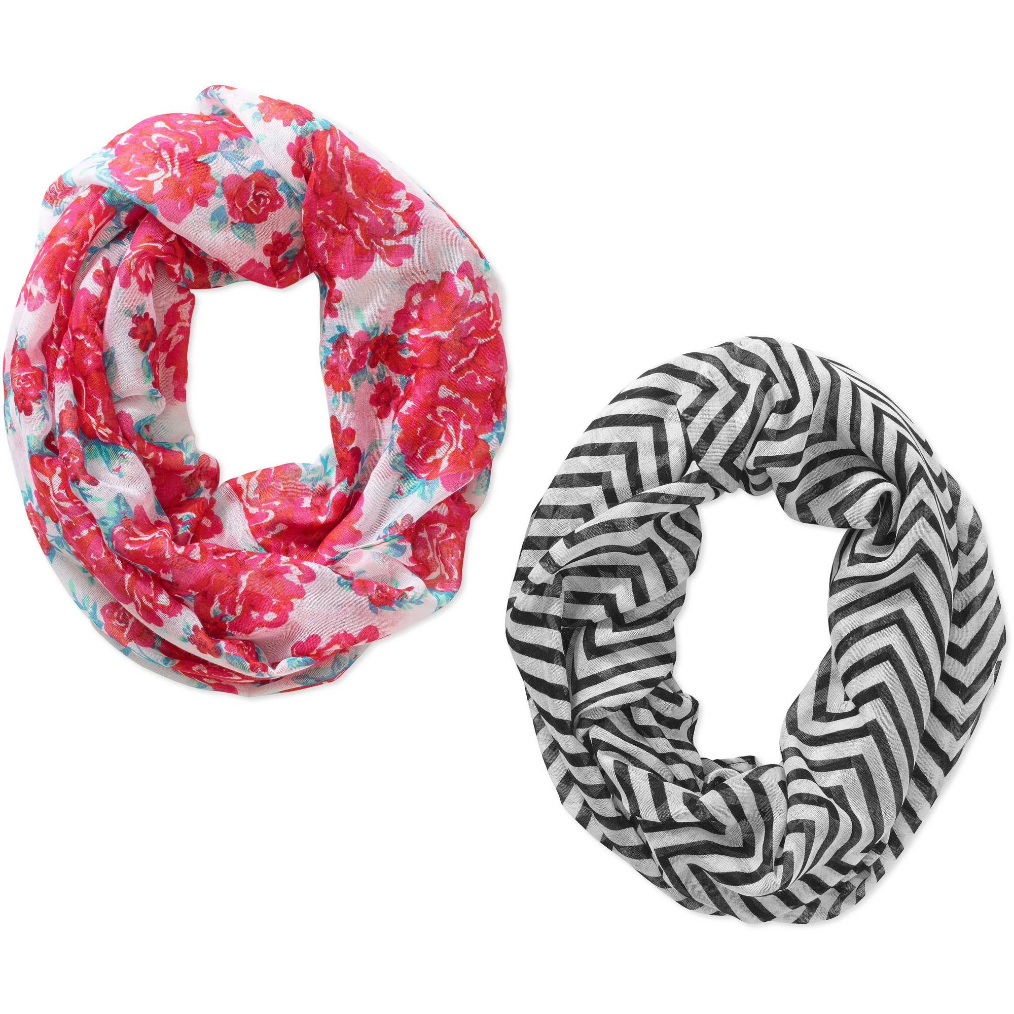 Faded Glory Women's Infinity LoopScarf, 2 Pack