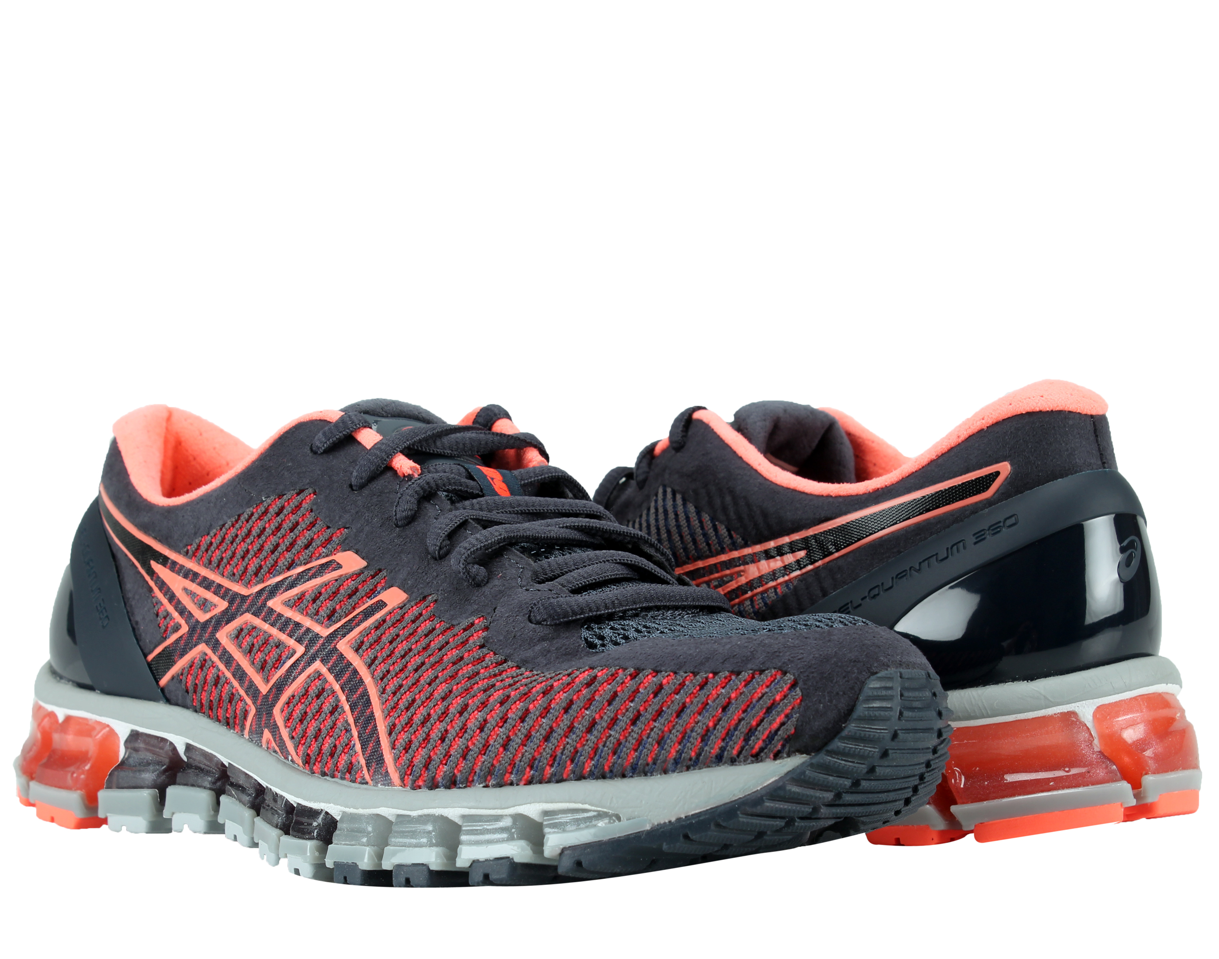 Asics Gel-Quantum 360 CM India Ink Coral Grey Women's Running Shoes T6G6N-5806 by Asics