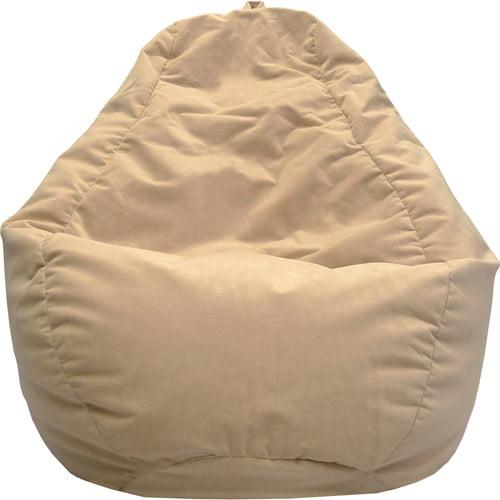 """Gold Medal Medium 112"""" Black Microsuede Teardrop Bean Bag"""