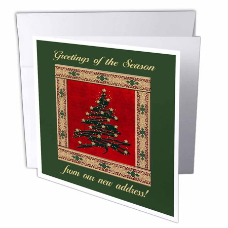 3drose christmas tree with stars from our new address greeting cards 6 x