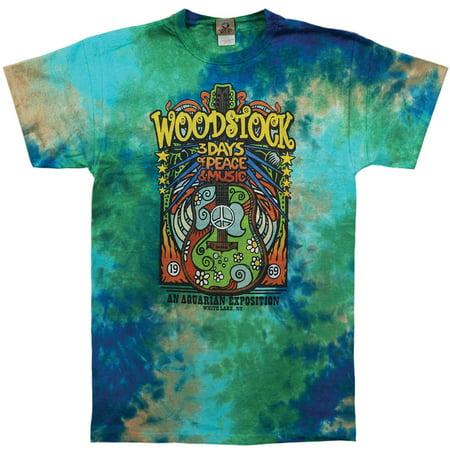 Woodstock Mens  Woodstock Music Festival Tie Dye T Shirt Multi