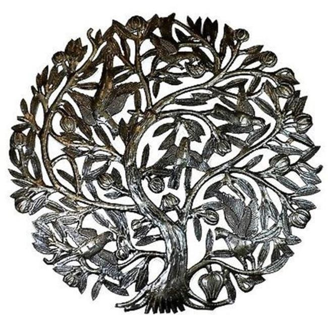 Croix des Bouquets Tree of Life with Buds Metal Wall Art, 24 in.